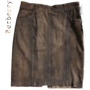 Burberry Skirt Suede Leather size 8